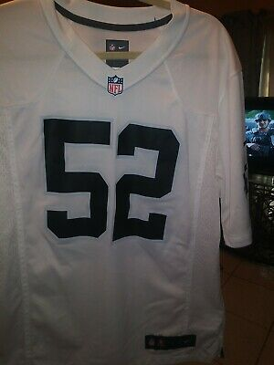 info for 34719 c0b47 NWT KHALIL MACK Raiders Jersey Nike Color Rush Stitched ...