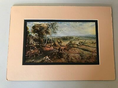 Peter Paul Rubens Vintage 1955 Print Landscape with Castle Steen