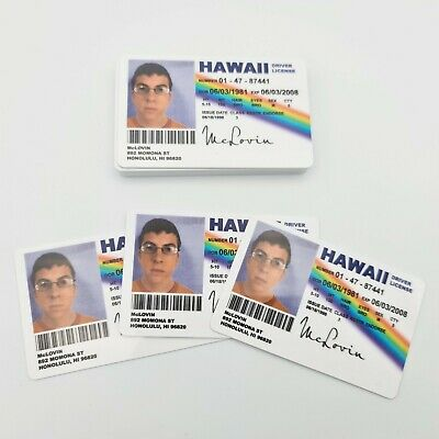 Superbad McLovin Novelty Driving License ID Replica - Same-day Dispatch Free P&P