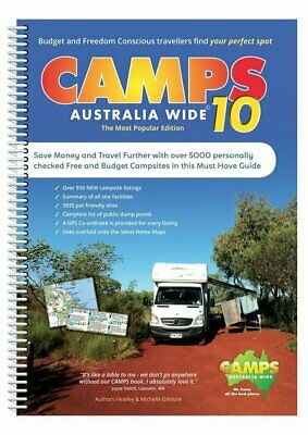 Camps Australia Wide 10 with Snaps Spiral Bound Book : B4 Size