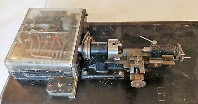 Vintage Clock, Model Maker, Jewelers Lathe w/ Motor and Power Feed, UNIQUE