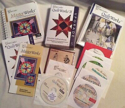 Designers Gallery Quilt Works II Software Lot Master Works Embroidery