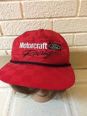 64cfc47f7ce VINTAGE MOTORCRAFT FORD RACING PARTS Trucker USA SnapBack Hat ...