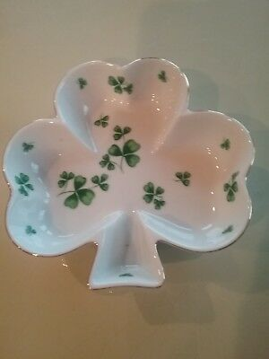 Lefton China Shamrock Dish
