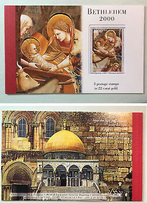 Palestinian Authority/Palestine Bethlehem 2000 Booklet 3 Stamps 6 Pages 120a MNH