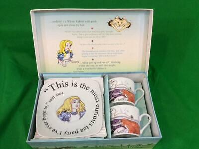 Alice in Wonderland Tea Party by Paul Cardew Set of 2 Tea Cups and Saucers