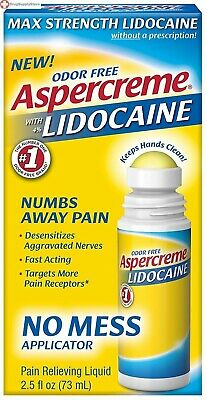 Aspercreme 4% Lidocaine Odor free Pain Relieving Liquid, No Mess Applicator