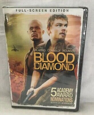 Blood Diamond (DVD, 2007, Full Screen) Sealed- DiCaprio, Connelly, Hounsou