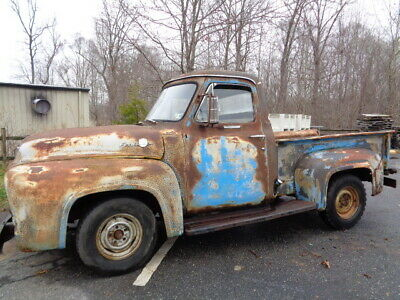 1955 Ford F-100  1955 FORD F100 CUSTOM DELUXE V8 3 speed PROJECT!!!