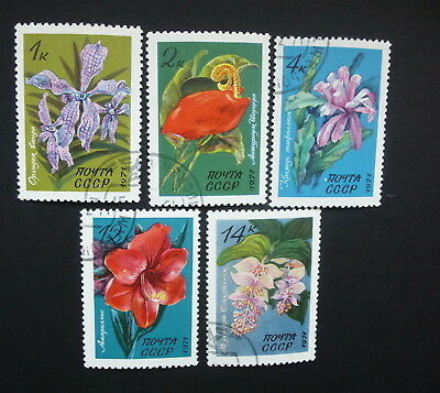 RUSSIA/USSR 1971 Stamps Mi#3956-3960 Tropical Flowers, used