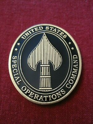 3x4 inch OVAL US Special Operations Command Spear Sticker