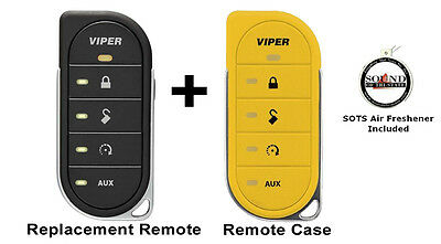 Viper 7856V 2 Way LED Remote Transmitter w/ Yellow Colored Cover 87856VY