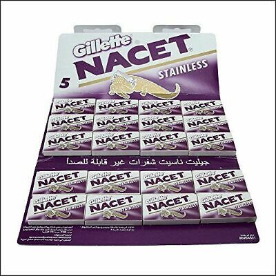 Gillette NACET Double Edge Razor Blade High Quality Pack of 100 / SAME DAY POST
