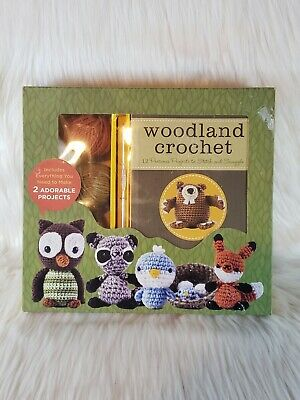 woodland creatures crochet kit makes 2 adorable projects