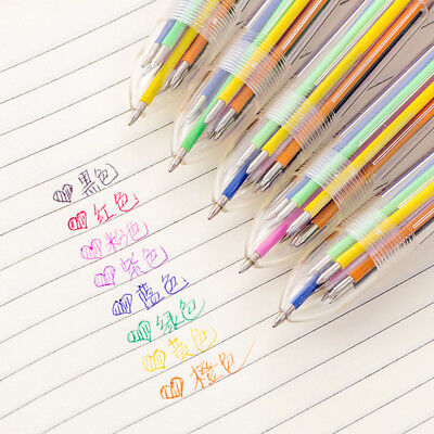 8 in 1 Colors Ballpoint Pen Multi-color Ball Point Pens For School Office Supply