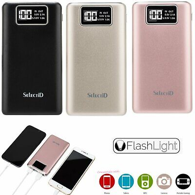 100000mAh Portable LCD Power Bank Battery Charger For Samsung Galaxy S8 /S9 Plus