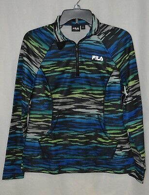 97526bab FILA SPORT PERFORMANCE Women's BLACK 1/4 Zip Fitness Pullover Size ...