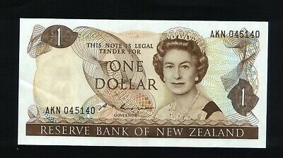New Zealand $1 Bank note Russell 1985-89 ~ EF  AKN 045140