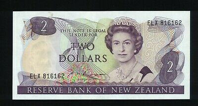 New Zealand $2 Bank note Russell 1985-89 ~ EF  ELX816162