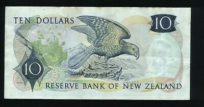 New Zealand $10 Bank note Wilks 1968-75 15J 378004
