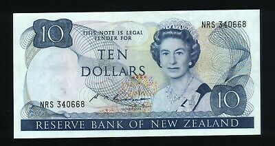 New Zealand $10 Bank note Russell 1985-89  ~EF  NRS 340668