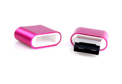 New High Speed Mini USB 2.0 Micro SD TF T-Flash Memory Card Reader Rosy Red POP