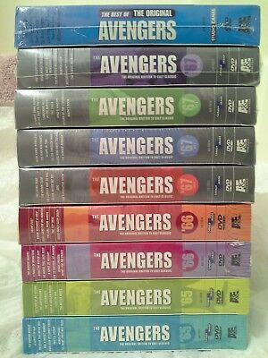 18 DVD The Avengers Collection '65,'66 Sets 1&2 '67 1,2,3,4, ORIGINAL TV LOT NEW
