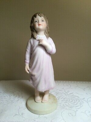 Frances Hook Kiss Me Good Night from A Child's World Bisque Girl Figurine 1981