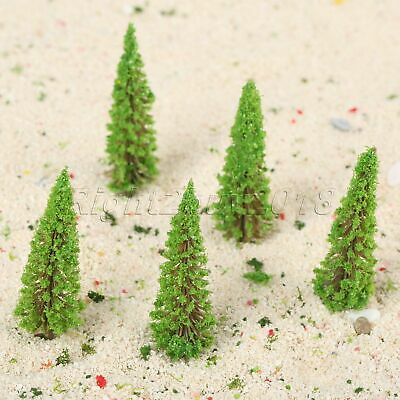 50x HO OO Scale 1:100 Model Trees Train Scenery Wargame Diorama Layout Landscape