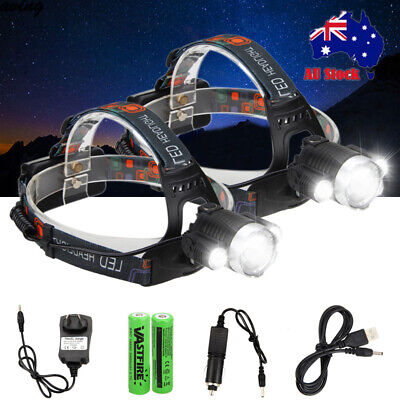 2019 RECHARGEABLE 30000LM 3T6 XML LED HEADLAMP HEADLIGHT TORCH FLASHLIGHT Hiking