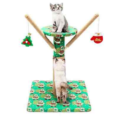 Cat Scratcher Tower Post Tree Activity Toy Centre Scratching Pole Climbing Cute