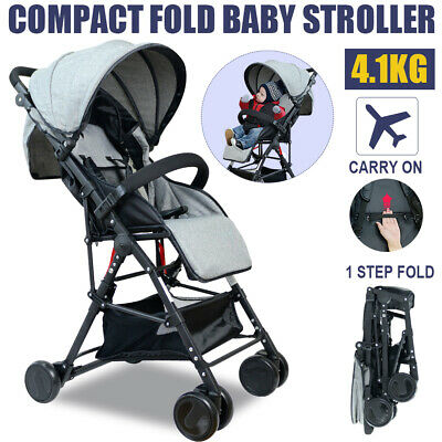 Lightweight Baby Stroller Pram Bassinet Foldable Travel Carry On Plane Pushchair