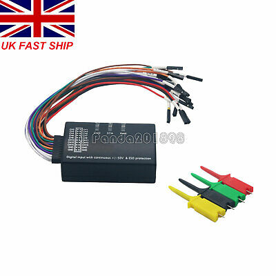 16 Channel Logic Analyzer USB 100M Sample Rate 16CH Version 1.1.34 1.2.10 1898UK