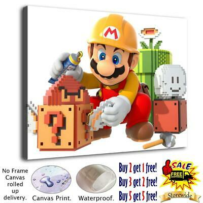 Mario is painting the house Home Decor HD Canvas Print Wall art Picture 125203