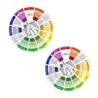 2x Color Mixing Wheel Guide Nail Embroidery Match Color Palette Two Side