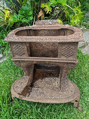 rustic antique pot belly stove