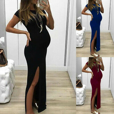 Womens Pregnant Long Maxi Dress Maternity Gown Party Pregnancy Photography Props