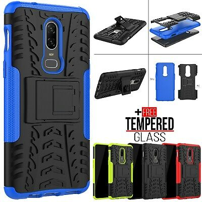 For OnePlus 6 6T Hybrid Armor Shockproof Rugged Heavy Duty Hard Case Stand Cover