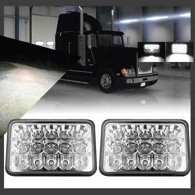 "Pair 4X6"" LED Headlights CREE Light Bulb Lamp Crystal Clear Seal Beam Headlamps"