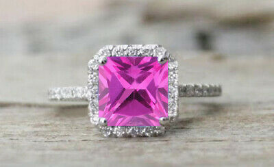 2.00 Carat 14KT White Gold Natural Pink Tourmaline EGL Certified Diamond Ring