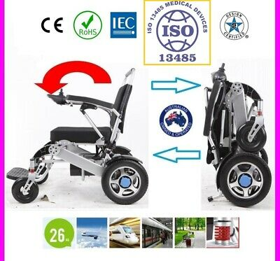 Folding Electric Powered Wheelchair Disabled Elderly, foldable Scooter