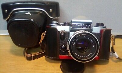 Praktica Super TL Camera Body With Carl Zeiss Jena 1.8 / 50 Lens With Hard Case
