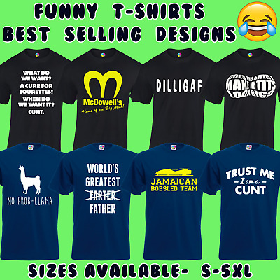 Funny Mens T-Shirts Joke Novelty Tee Rude Design Gift For Him Dad New S - 5Xl