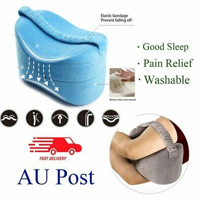 AU Stock Memory Foam Leg Pillow Cushion Knee Support Pain Relief Washable Cover