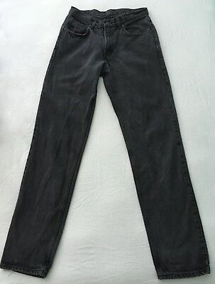 Vintage GAP Easy Fit 33 w x 34 Long Button Fly Black Denim Jeans TALL