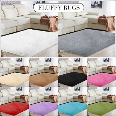 Anti-Skid Fluffy Rug Shaggy Area Dining Living Room Bedroom Carpet Floor Mat Rug