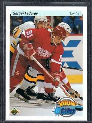 1990-91 Upper Deck** Young Guns Rookie**sergei Fedorov**detroit Red Wings