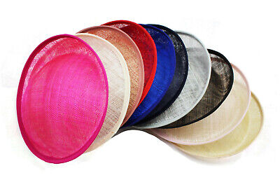 Sinamay Disc 22cm Round Fascinator Base Set DIY Material Craft Making 4 In 1 Set