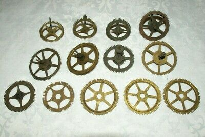 Collection of Antique Large Clock Gear Wheels, Spares/Repair