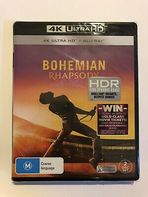 Bohemian Rhapsody 4K Ultra HD & Blu Ray BRAND NEW & Sealed Region B Rated M
